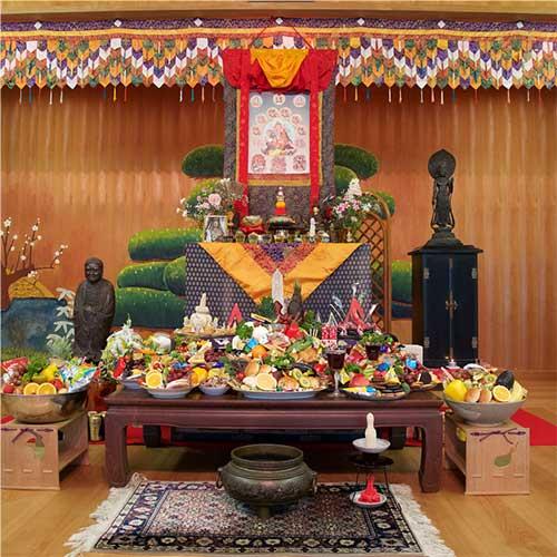 the shrine room in Izu Japan